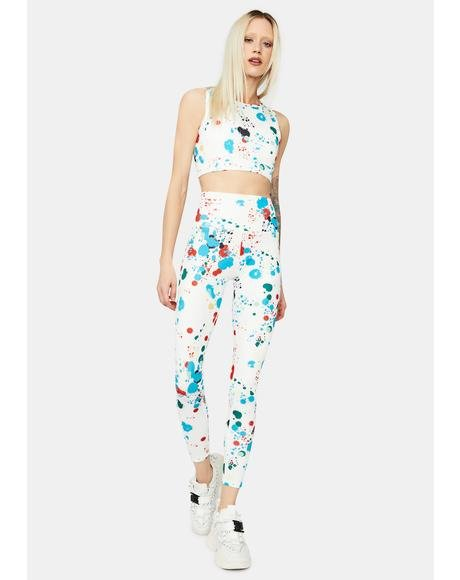 Sore Not Sorry Splatter Print Sport Leggings