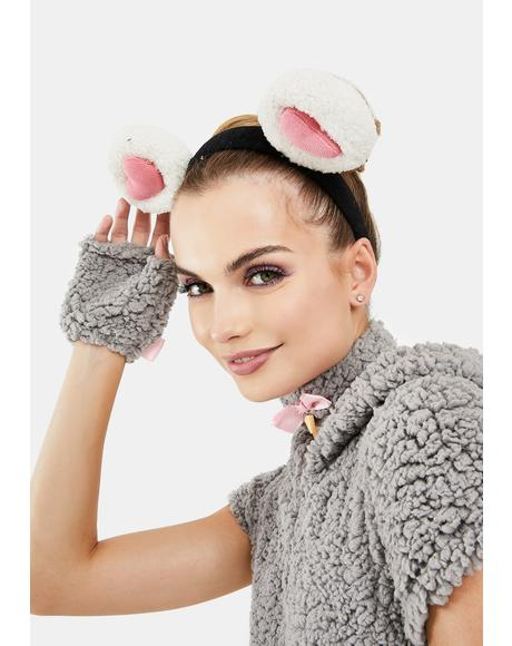 Pure Pocket Mouse Fuzzy Headband
