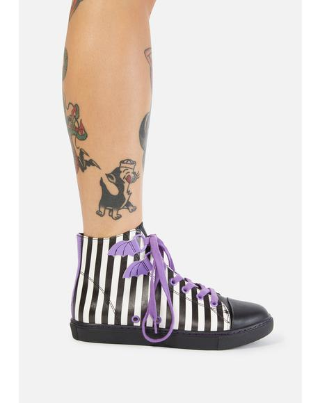 Striped Deetz Chelsea Ankle Boots
