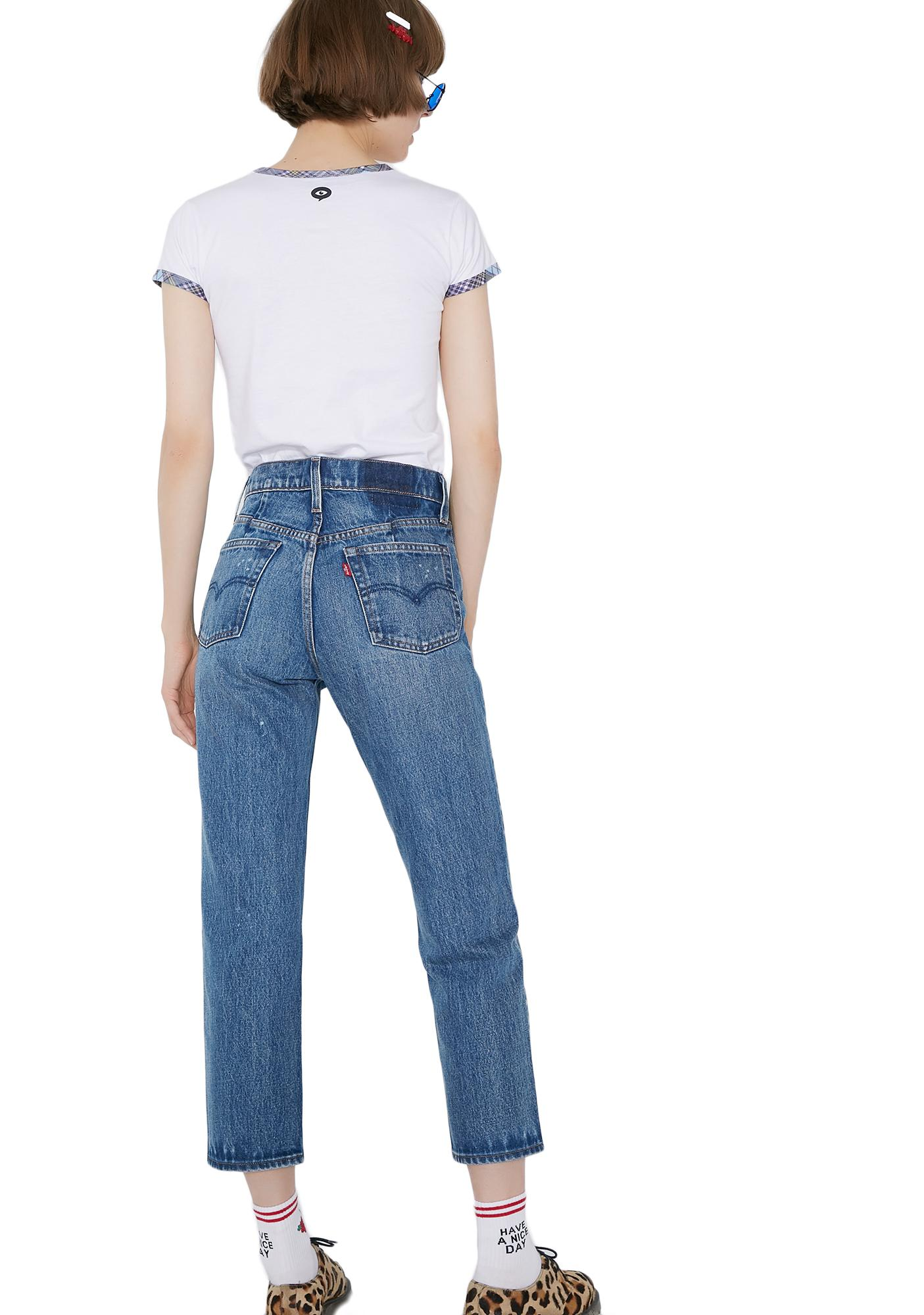 Levis Altered Straight Jeans