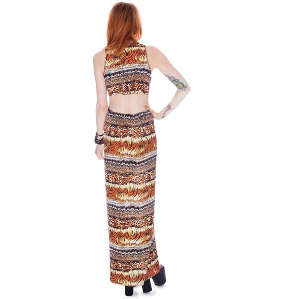 by Ronny Kobo Blair Multi Skin Knot Dress