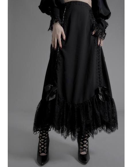 Melancholia Lace Maxi Skirt