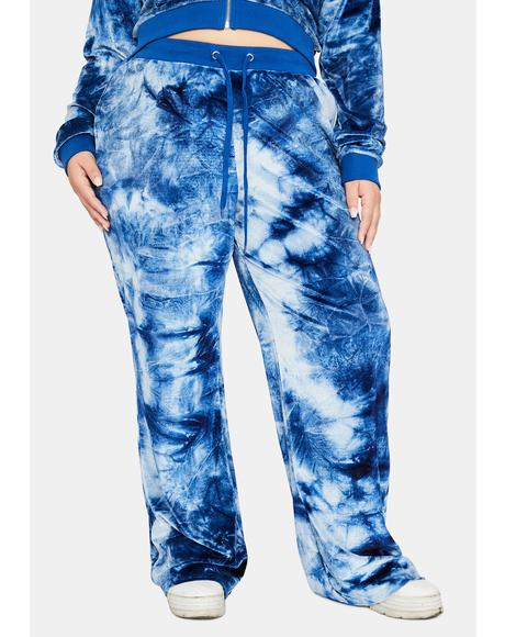 Lost In A Flurry Tie Dye Velvet Lounge Pants