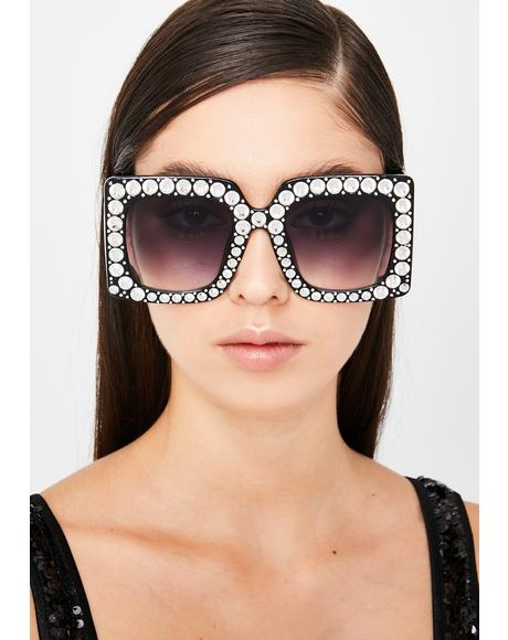 Glam Pop The Dream Rhinestone Sunglasses