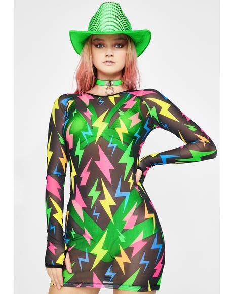Stereo Shock Mesh Dress