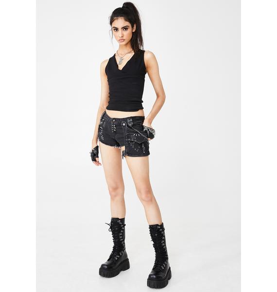 Punk Rave Gothic Visual Kei Mini Shorts