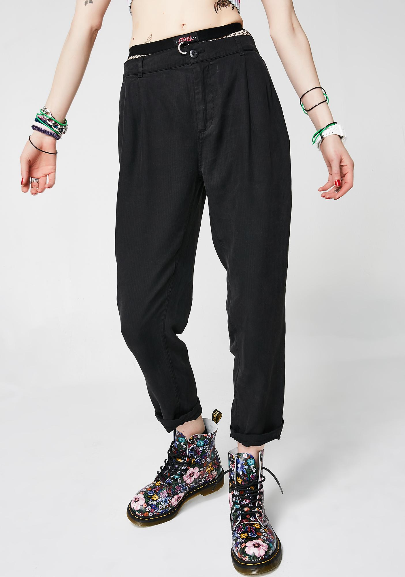 Obey Charlie Cropped Trousers