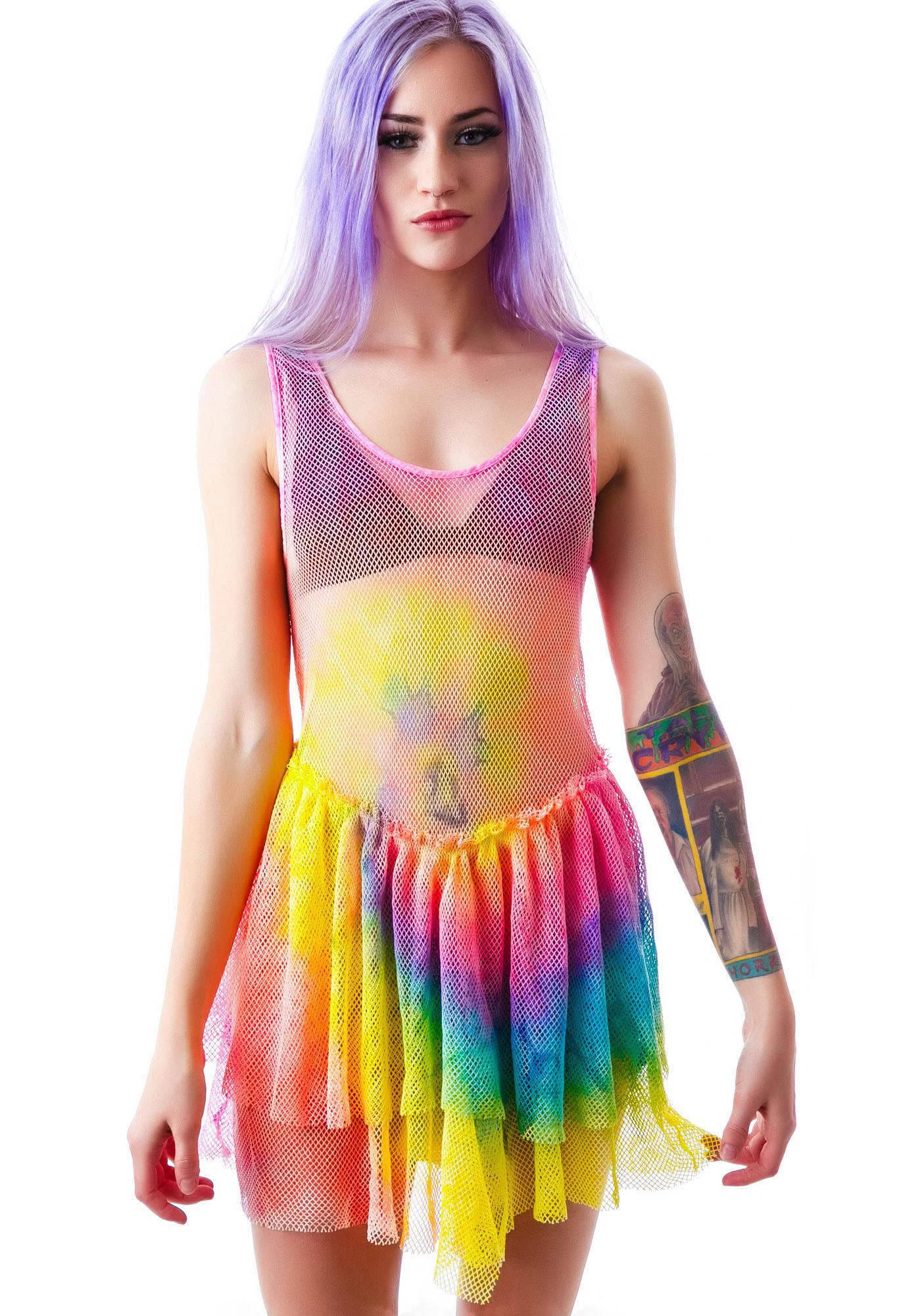 UNIF Tie Dye Bait Dress