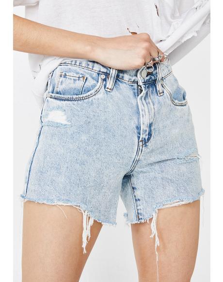 Acid Trip Denim Shorts