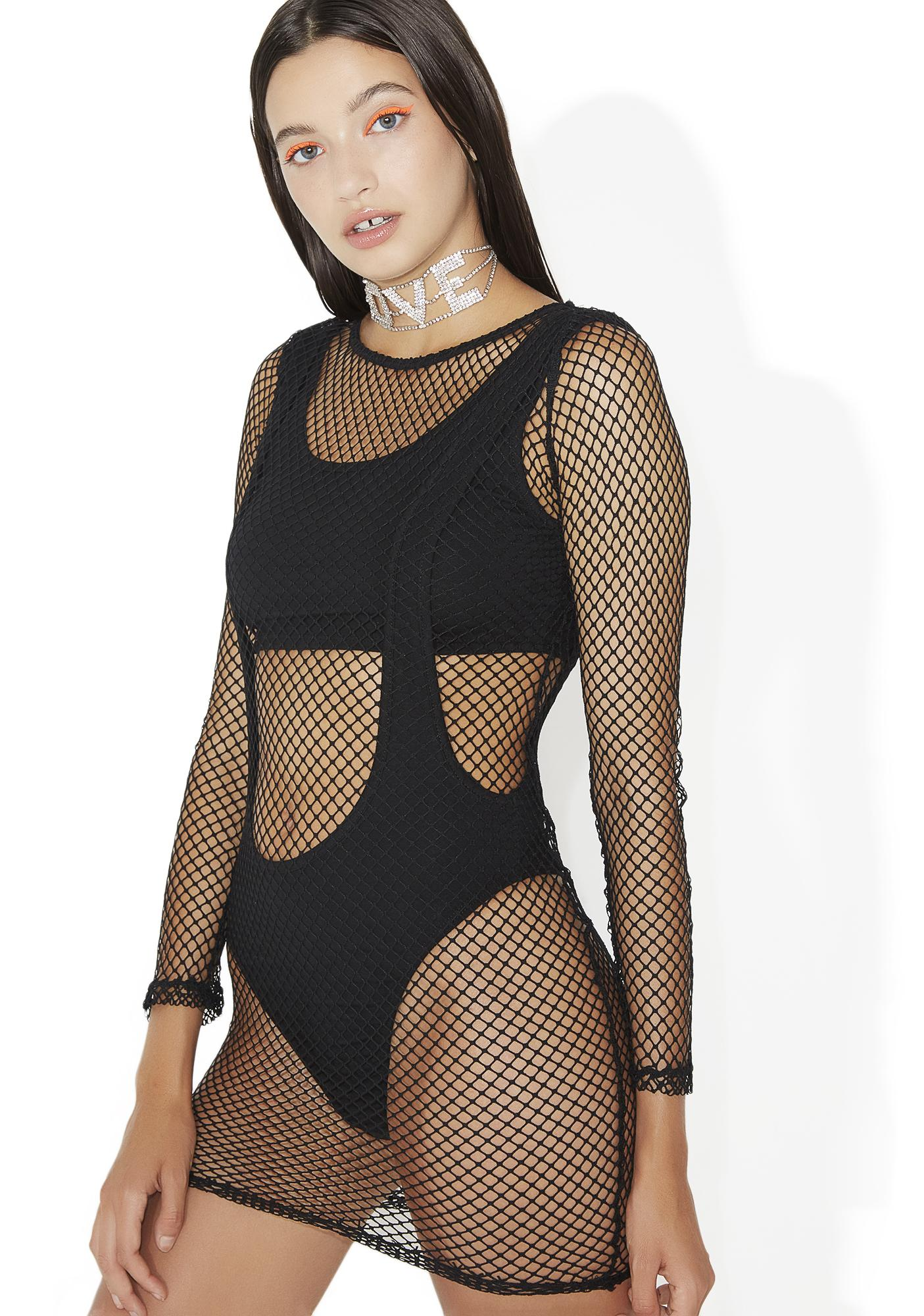 Pretty Woman Fishnet Dress