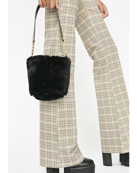 Midnight Leopard Lady Mini Bucket Bag