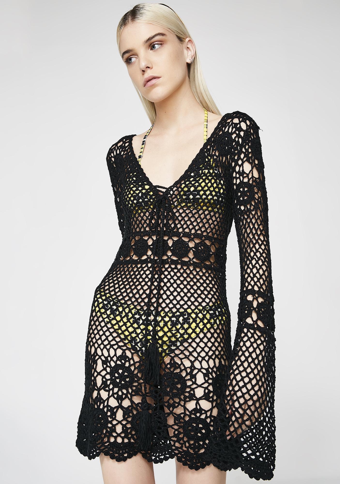 Peace Train Crochet Dress