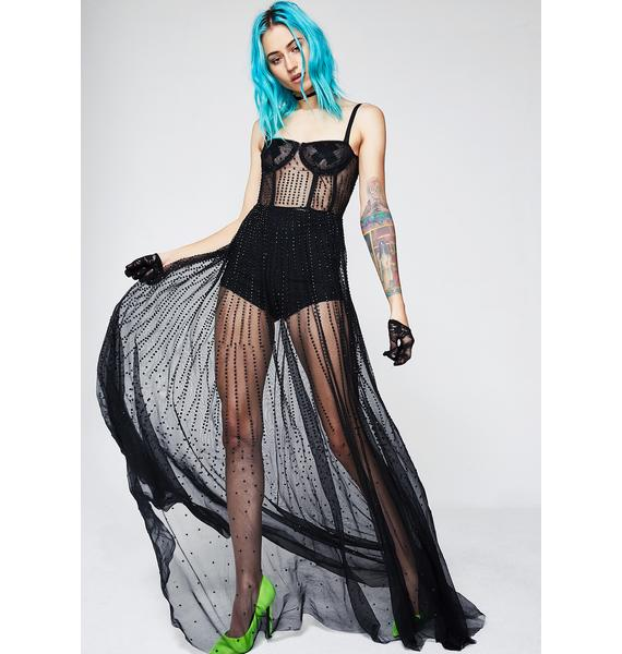 Kiki Riki Night Gala Sheer Maxi Dress