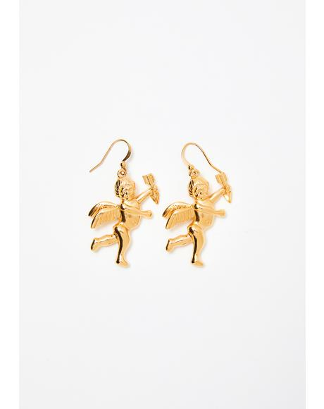 Cupid's Arrow Drop Earrings