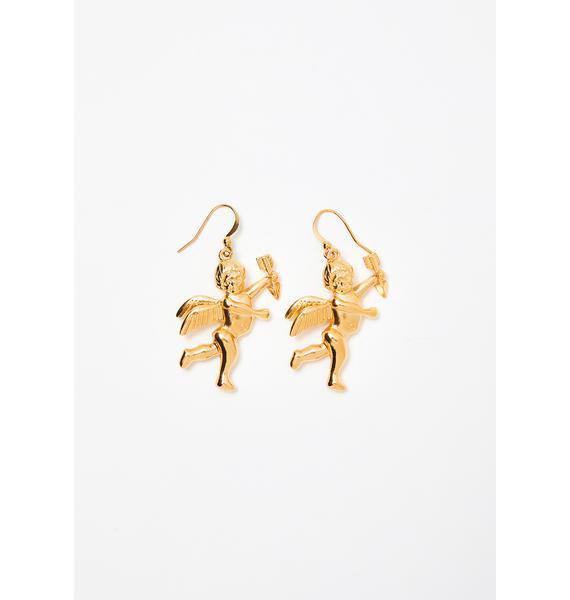Cupid's Arrow Drop Earrings