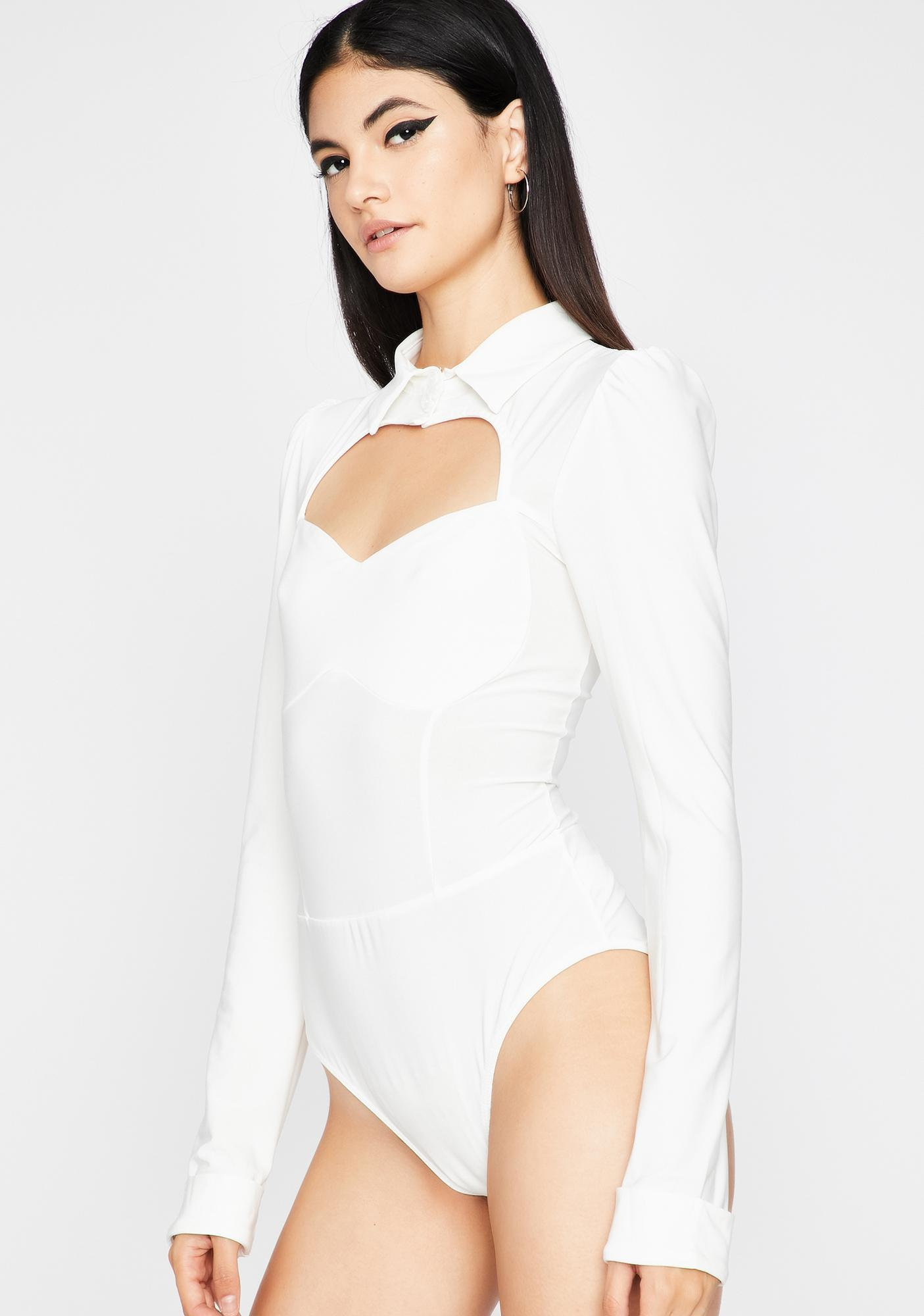 Straight Ace Collared Bodysuit