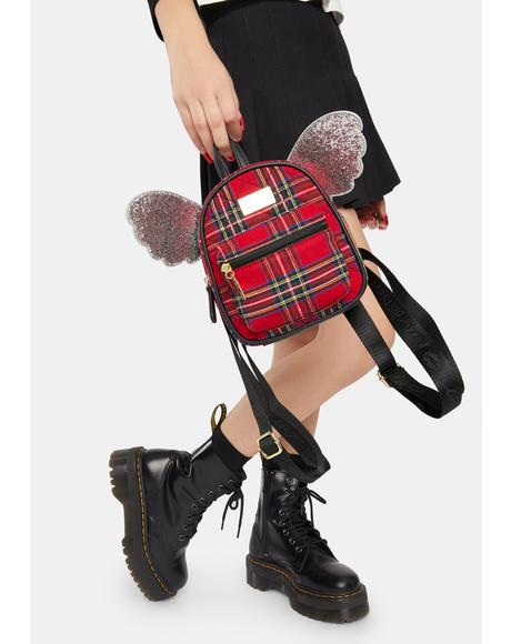 Plaid Jessie Mini Winged Backpack