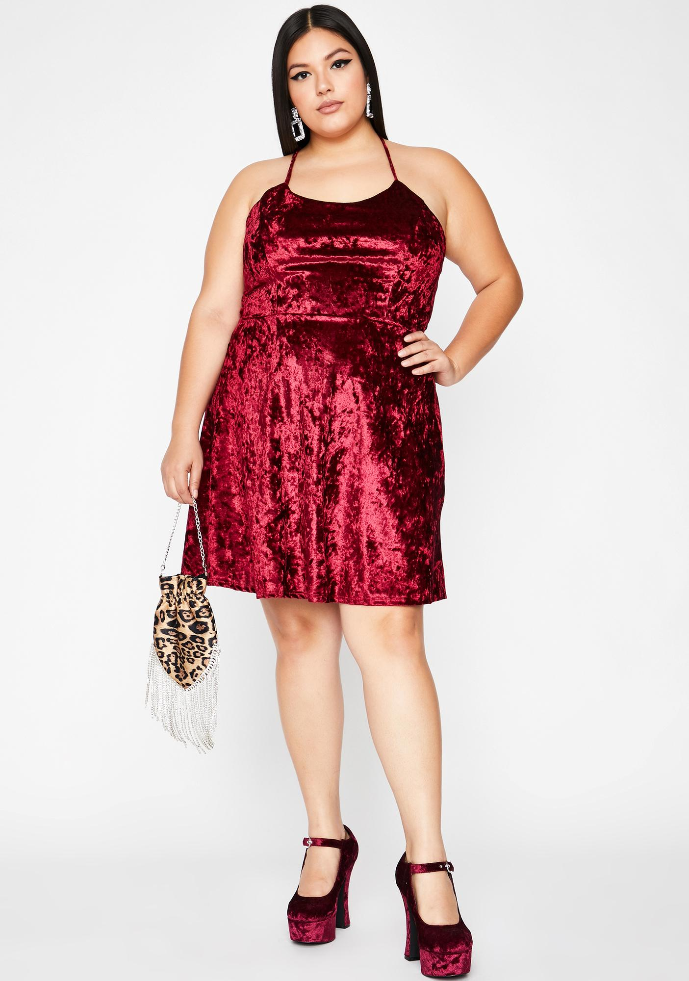 Burgundy Hellbound Date Mini Dress