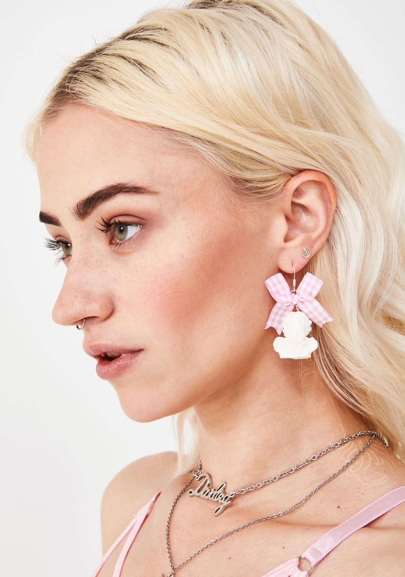 Cheer Up Cherub Earrings