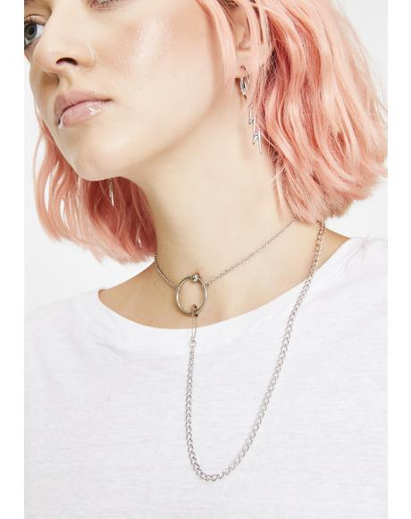 Orbit Safety Pin Necklace