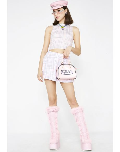 Pastel Plaid Fountain Crop