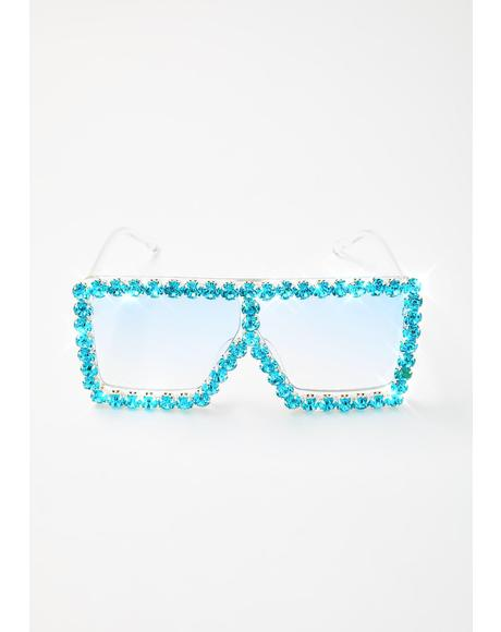 Retro Envy Rhinestone Sunglasses