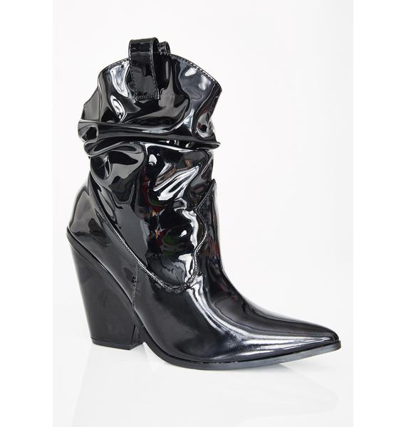 Stormy Cowboy Slouch Boots