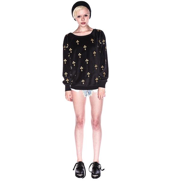 Wildfox Couture Mutiny Crosses Barcelona Pullover