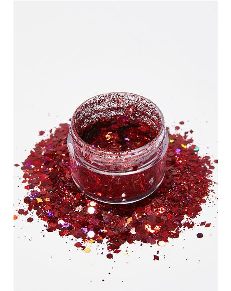 Red Diamond Face Glitter