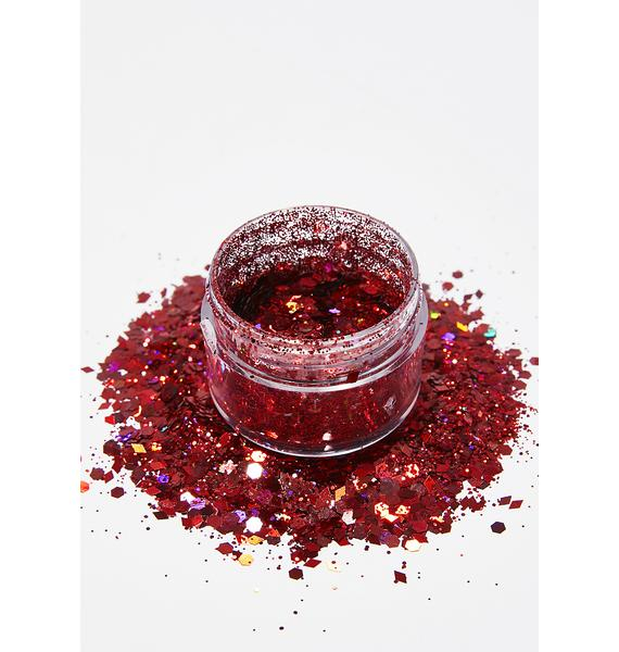 The Gypsy Shrine Red Diamond Face Glitter