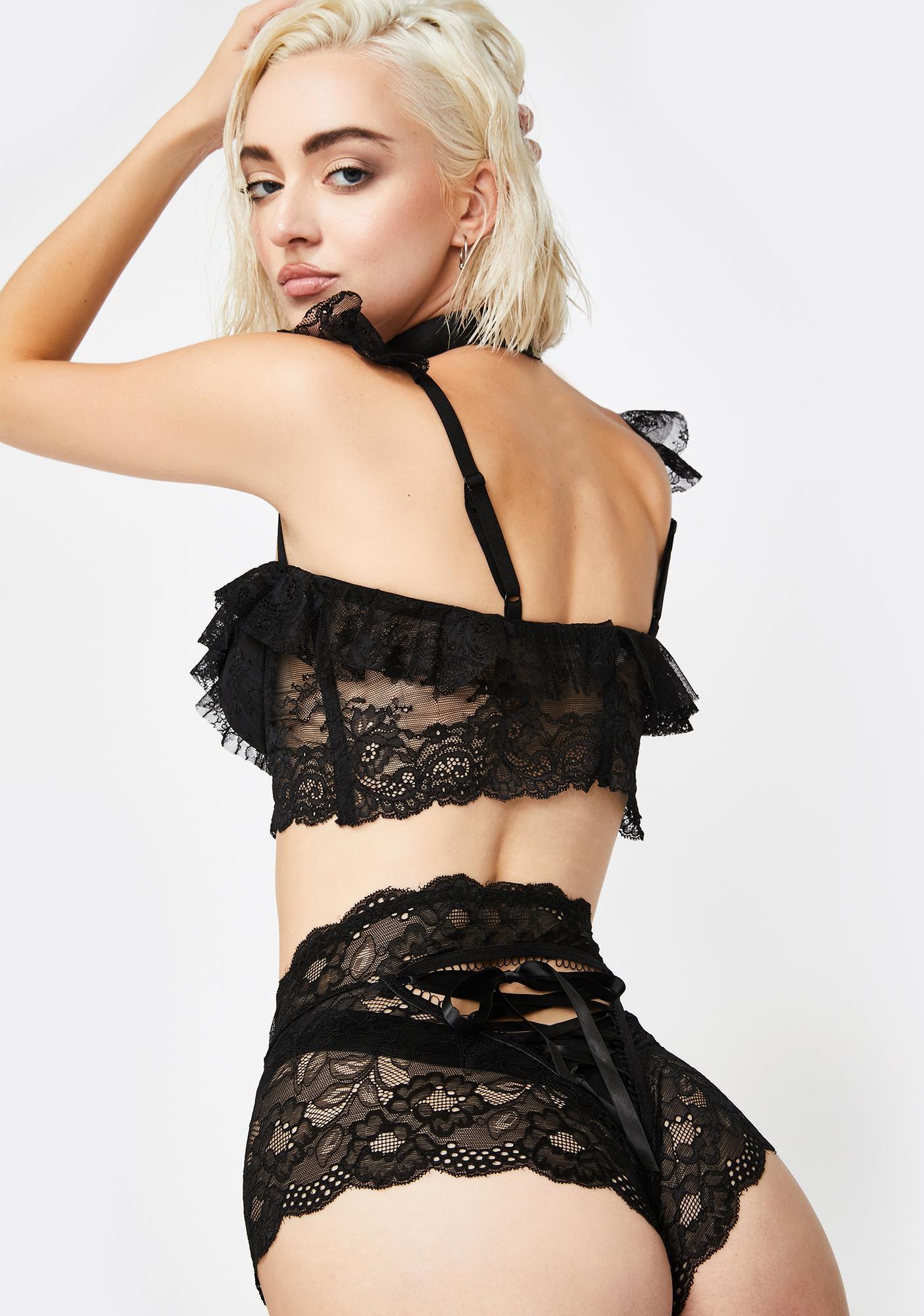 Tempting Tease Lace Up Panties