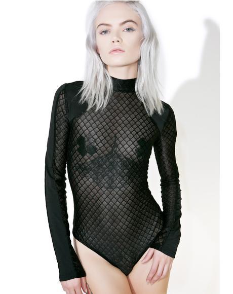 Diamantis Mesh Bodysuit