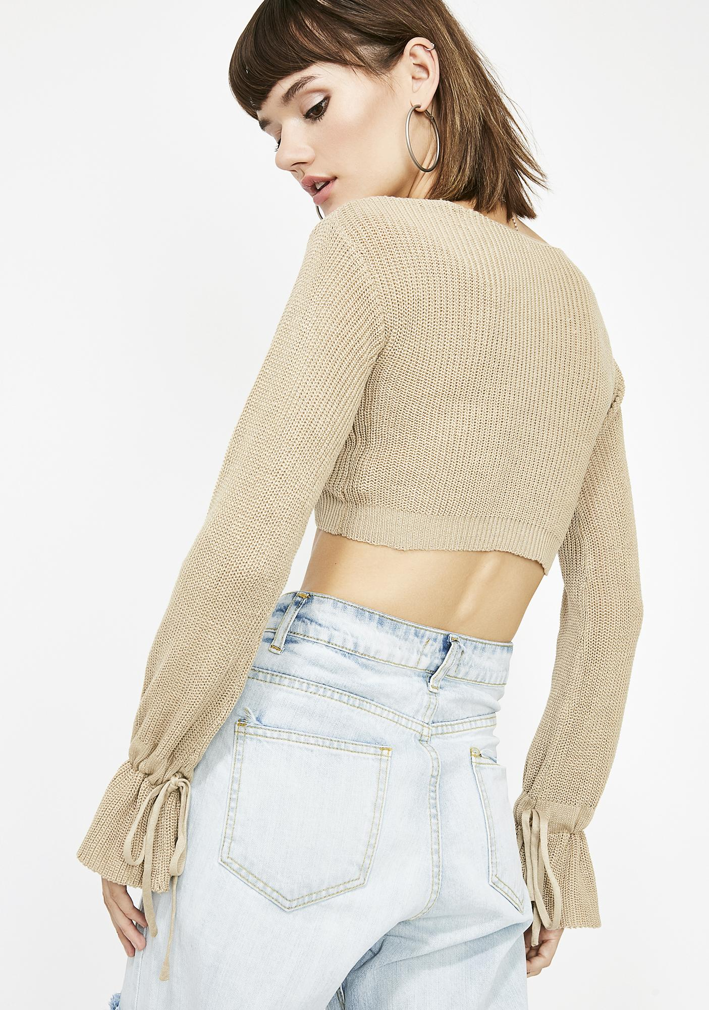 Naturally Livin' For It Crop Sweater