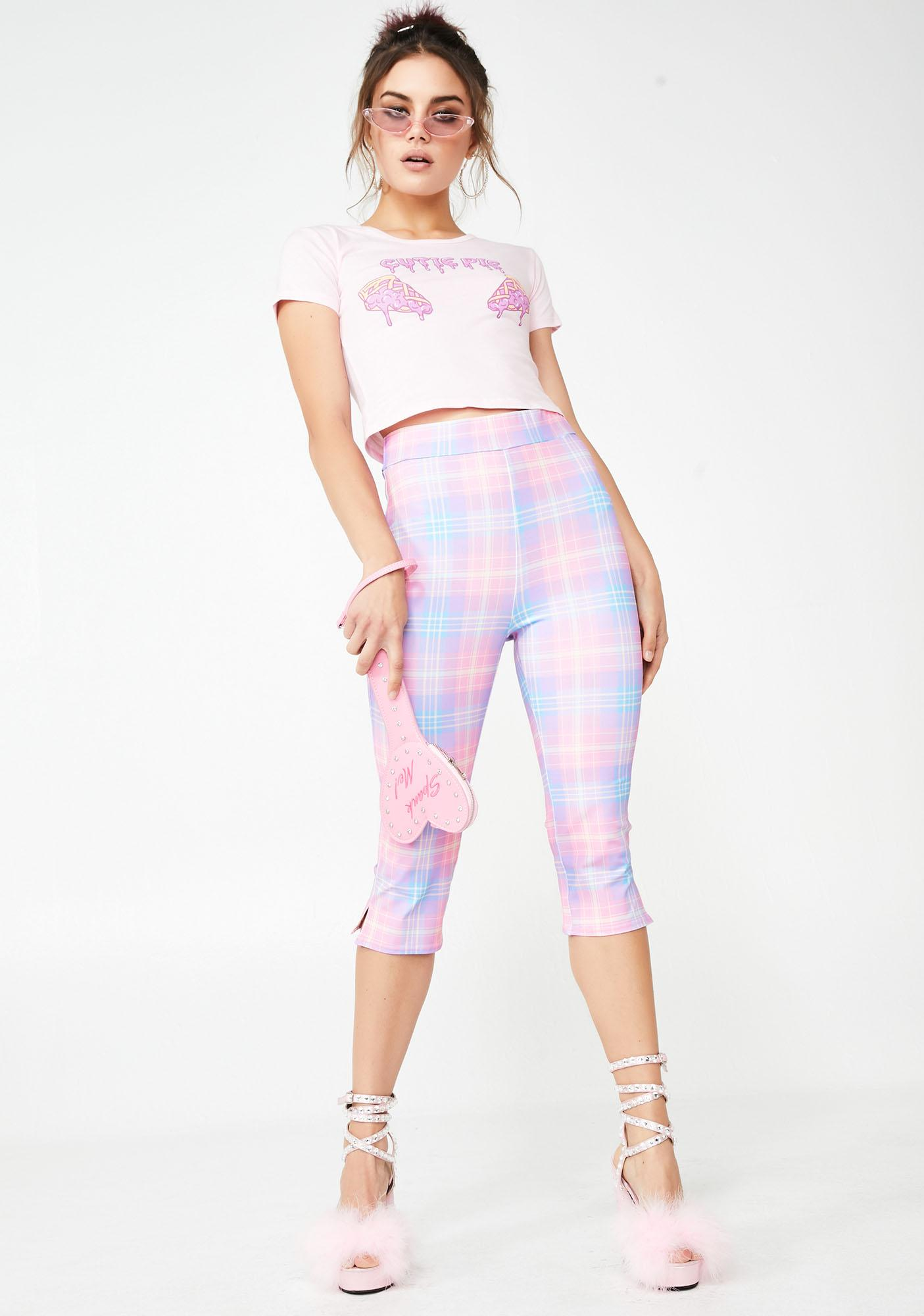 Sugar Thrillz Baby Demure Plaid Trousers