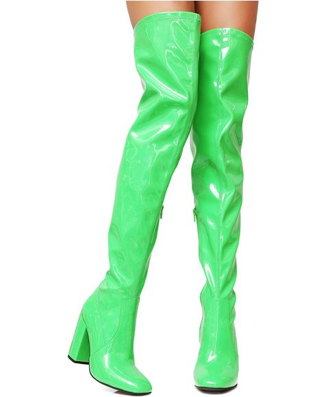 Slime Time Thigh High Boots