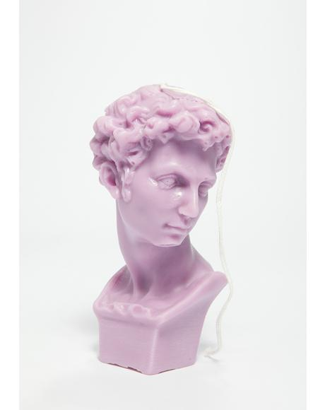 Lilac Timeless Beauty Roman Bust Candle