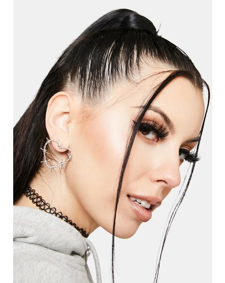 Protect My Heart Barbed Wire Earrings