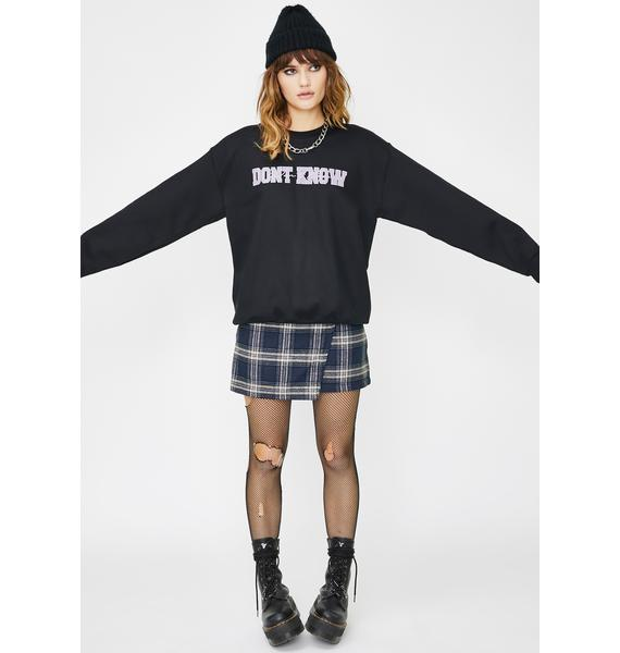 Daisy Street Don't Know Graphic Pullover