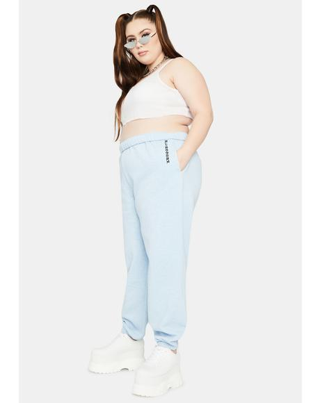 Curve Blue Kanji Jogger Sweatpants