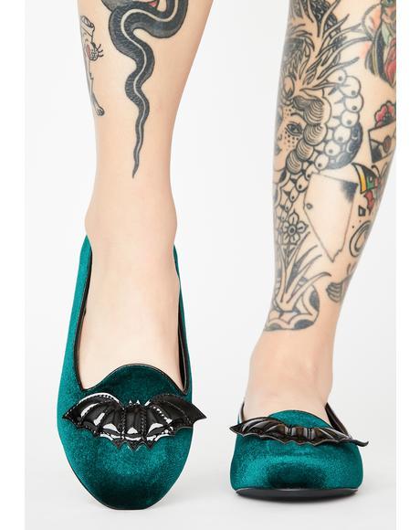 Green Lydia Bat Flats