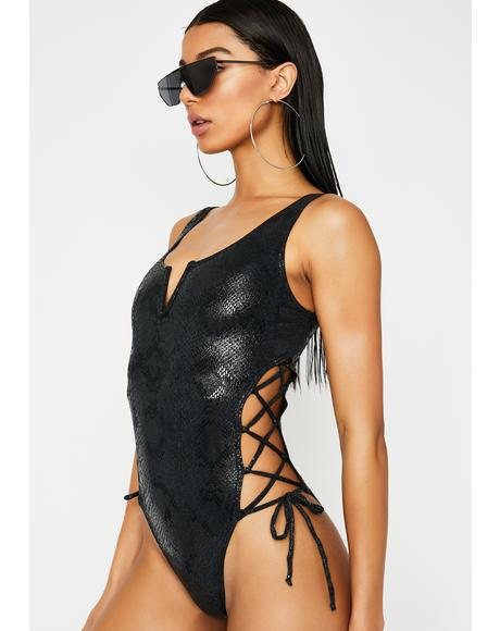 Drip Too Hard One Piece Bikini
