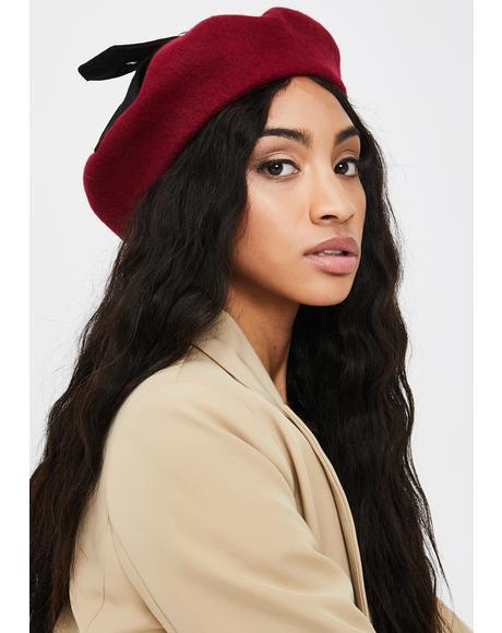 Love Me Tender Buckle Beret