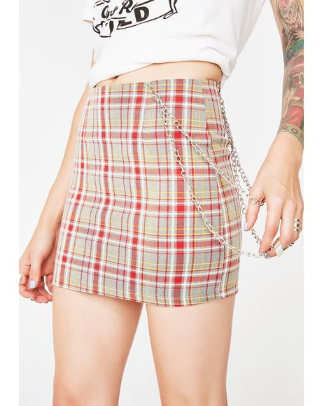Phoney Doll Plaid Skirt