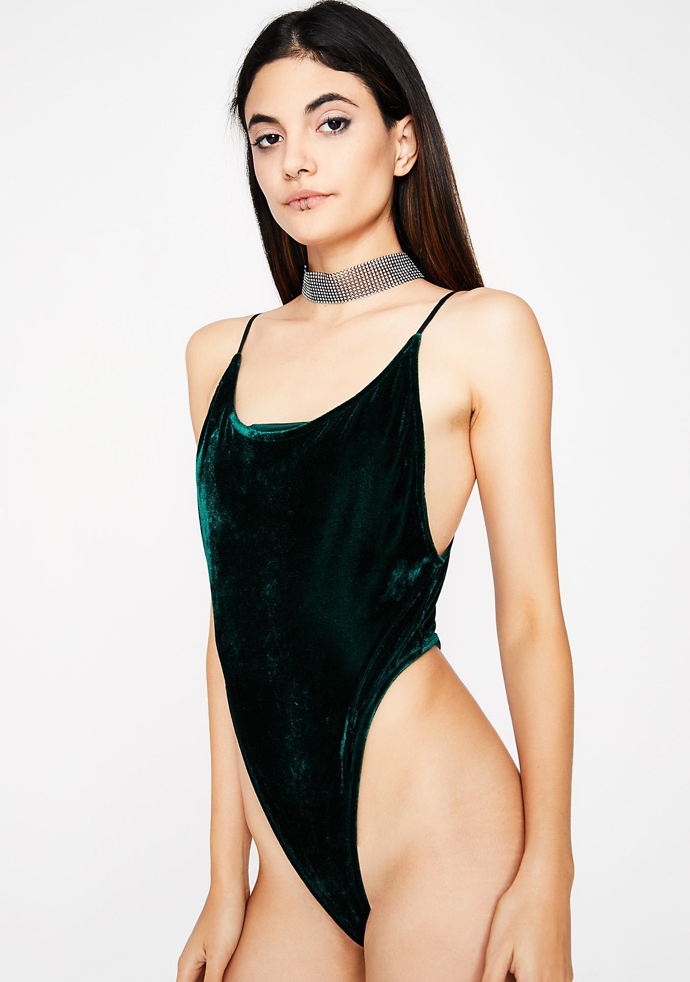4aa846df97 ... Emerald Change Of Heart Velvet Bodysuit ...