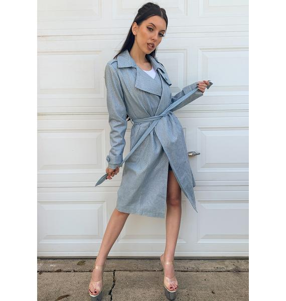 AZALEA WANG Trina Sequin Trench Coat
