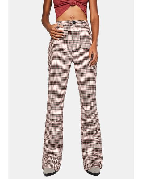 Downtown Check Sailor Trousers