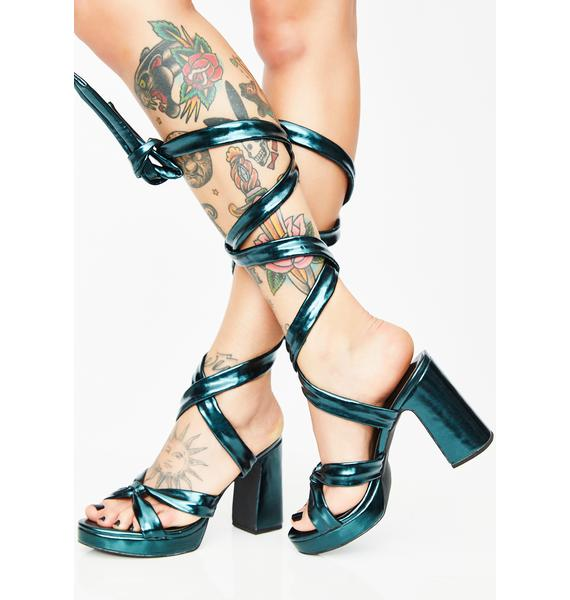 Current Mood Electrik Doll Wrap Heels