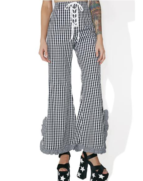 Gingham Check Bell Bottoms