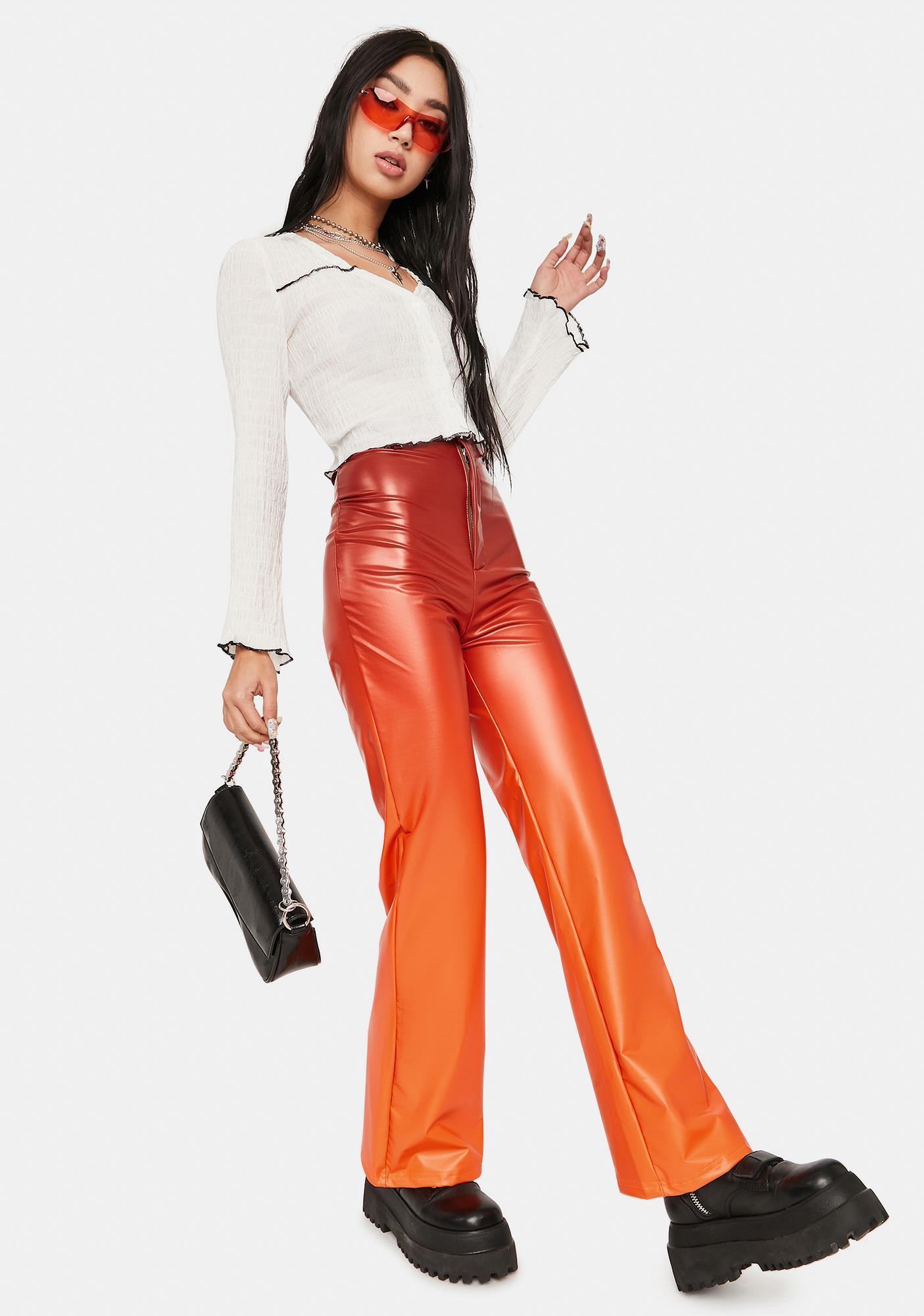 ZEMETA Ombre Vinyl High Waist Pants