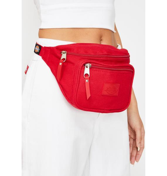 Dickies Red Canvas Hip Sack